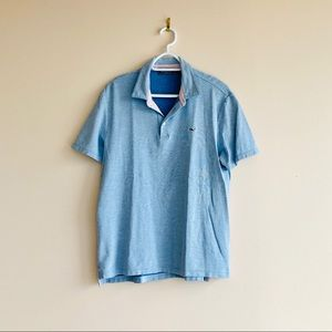 Vineyard Vines Men's Blue Polo Size M
